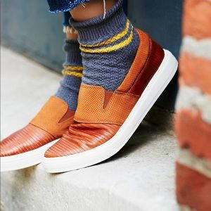 Free People Off Duty Leather Slip ons